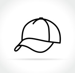 cap icon on white background