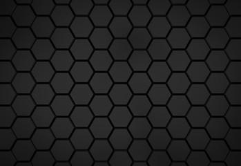 Black hexagon pattern - honeycomb concept