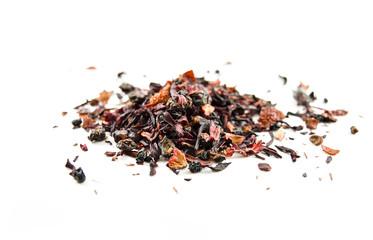 Pile of dried herbal hibiscus tea