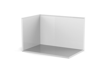 Trade show booth on the white isolated white background, 3d illustration
