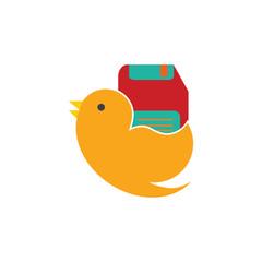 Save Bird Logo Icon Design