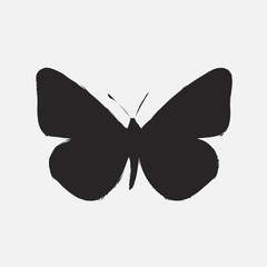 Illustration of black butterfly isolated