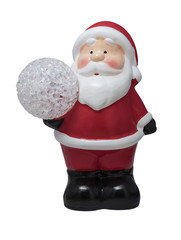 Santa's ceramic Christmas tree toy for Christmas and new year with snow lantern