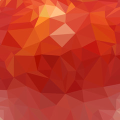 Red polygonal background. Red abstract in low-poly style. Mosaic for background. Red background. Vector illustration.