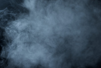 The texture of the smoke on black background
