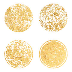 Gold label with golden glitter texture. Banners, logos, Icons, labels and badges set . Vector