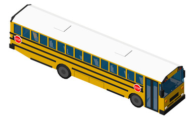 School Bus Isometric View
