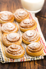Yeast rolls with cinnamon