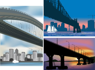three bridge compositions illustration