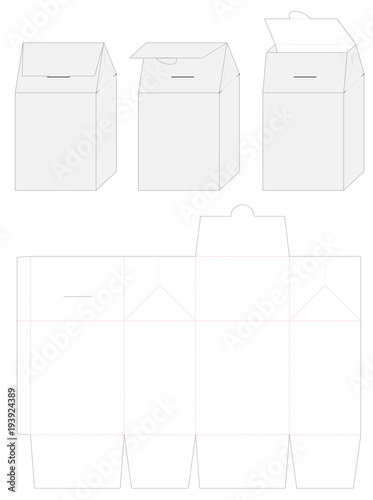 paper bag die cut mock up template vector stock image and royalty