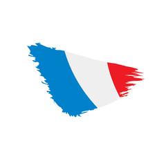 France flag, vector illustration