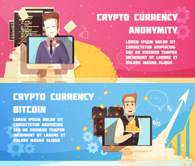 Cryptocurrency Horizontal Banners