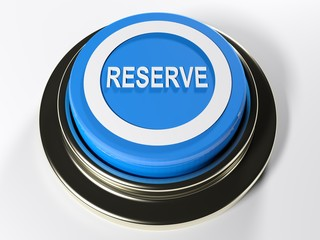 Reserve blue push button - 3D rendering