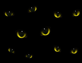 Cats Eyes In Darkness Realistic