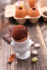 chocolate egg mousse for easter day