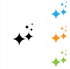 Shine Icon, Shiny Star Icon, Glittering Star