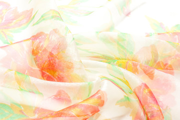 Texture, background, pattern. Cloth, natural silk Tea roses