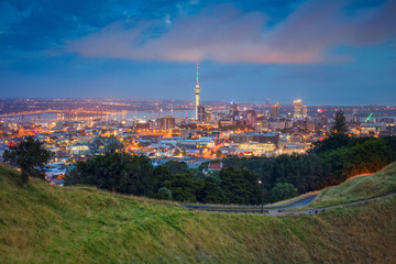 Foto op Canvas Oceanië Auckland. Cityscape image of Auckland skyline, New Zealand taken from Mt. Eden at dawn.