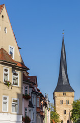 Houses and the west tower of Duderstadt