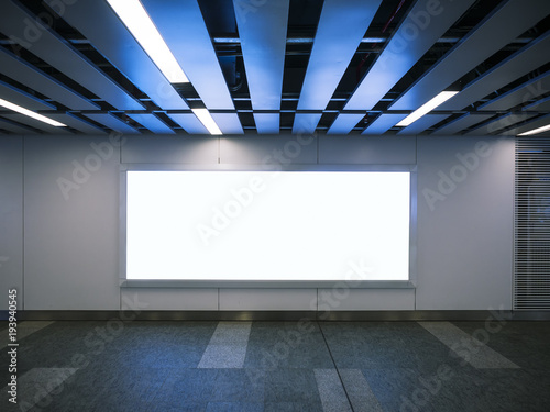 Billboard Banner signage mock up display Modern interior with ...