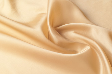 Texture, background, pattern.  Silk Dupioni Fabric by the yard in a golden beige color