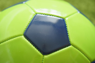 Football (Soccer) ball  close up photo. Sports photography