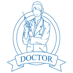 Doctor with stethoscope. Health Care. Young doctor in uniform. Medicine