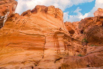 the siq canyon. Petra, Jordan country