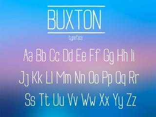 Condensed sans serif vector font