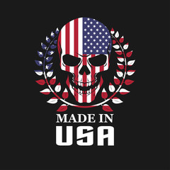 Skull on USA flag