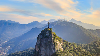 Wall Mural - Aerial view of Rio de Janeiro city skyline in Brazil