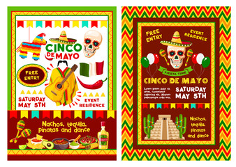 Mexican Cinco de Mayo party invitation banner
