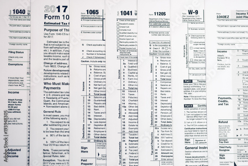 Form 1040 Individual Income Tax return form  United States