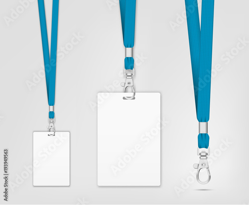 Lanyard design with cord. Cord texture effect. Simple lanyard for ...