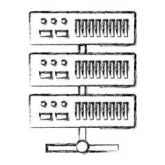 data center server icon vector illustration design