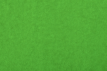 Abstract background with green texture, terrycloth