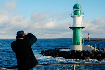 Photographing the lighthouse
