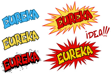 Cartoon comic eureka speech effects and splashes