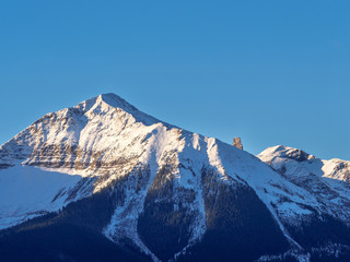 Close Up of Lizard Head Peak with Blue Sky, mountain summit in the San Miguel Mountains range of the Rocky Mountains, Telluride