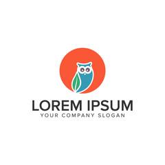 Owl logo design concept template.