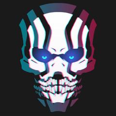 Neon skull mask