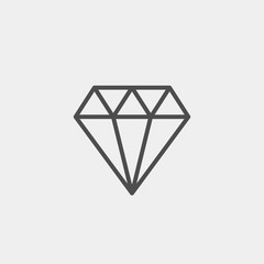 Diamond flat vector icon