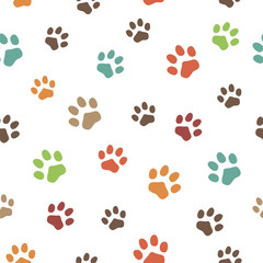 Traces of a dog. Vector illustration