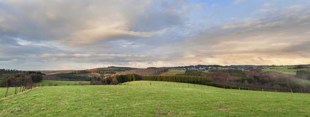 Foto op Canvas Pistache View on Patignies village in the Belgian Ardennes.