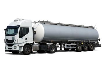 Fuel Tanker Truck  on white