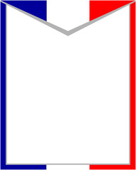 French flag Patriotic frame with empty space for your text and images.