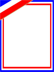French flag  frame with empty space for your text and images.
