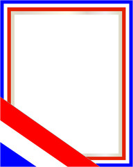 French abstract frame flag with empty space for text.