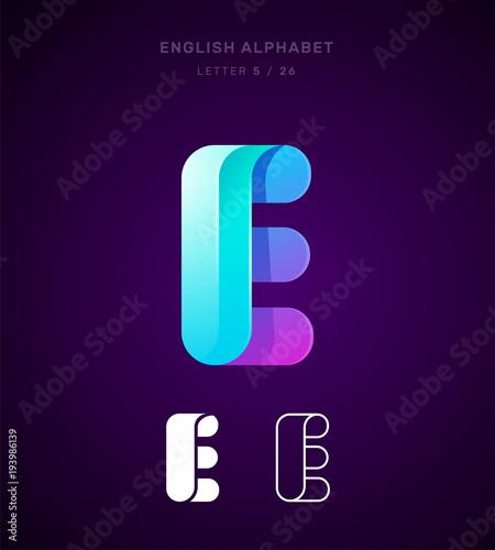 Vector origami alphabet letter e logo template material design vector origami alphabet letter e logo template material design flat line spiritdancerdesigns Choice Image