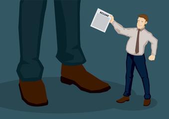 Resume for Job Application Vector Cartoon Illustration